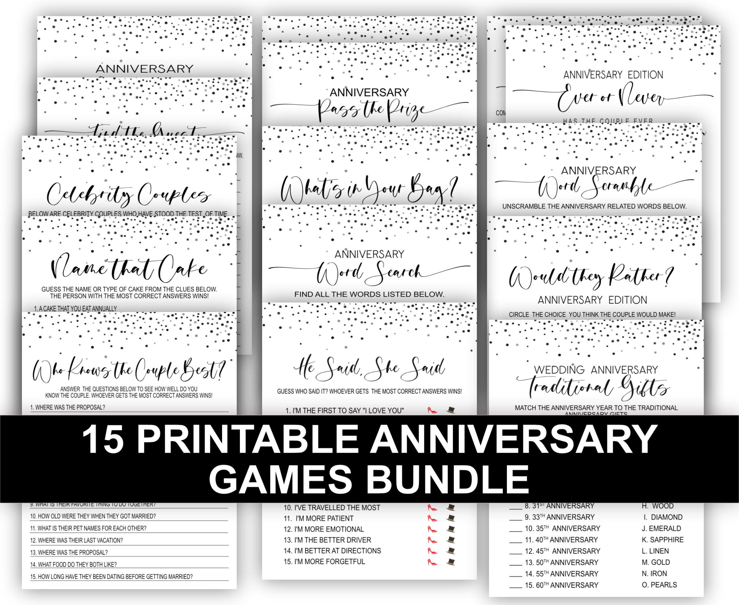 ANNIVERSARY GAMES 15-1 Anniversary Games Bundle Pack 10th