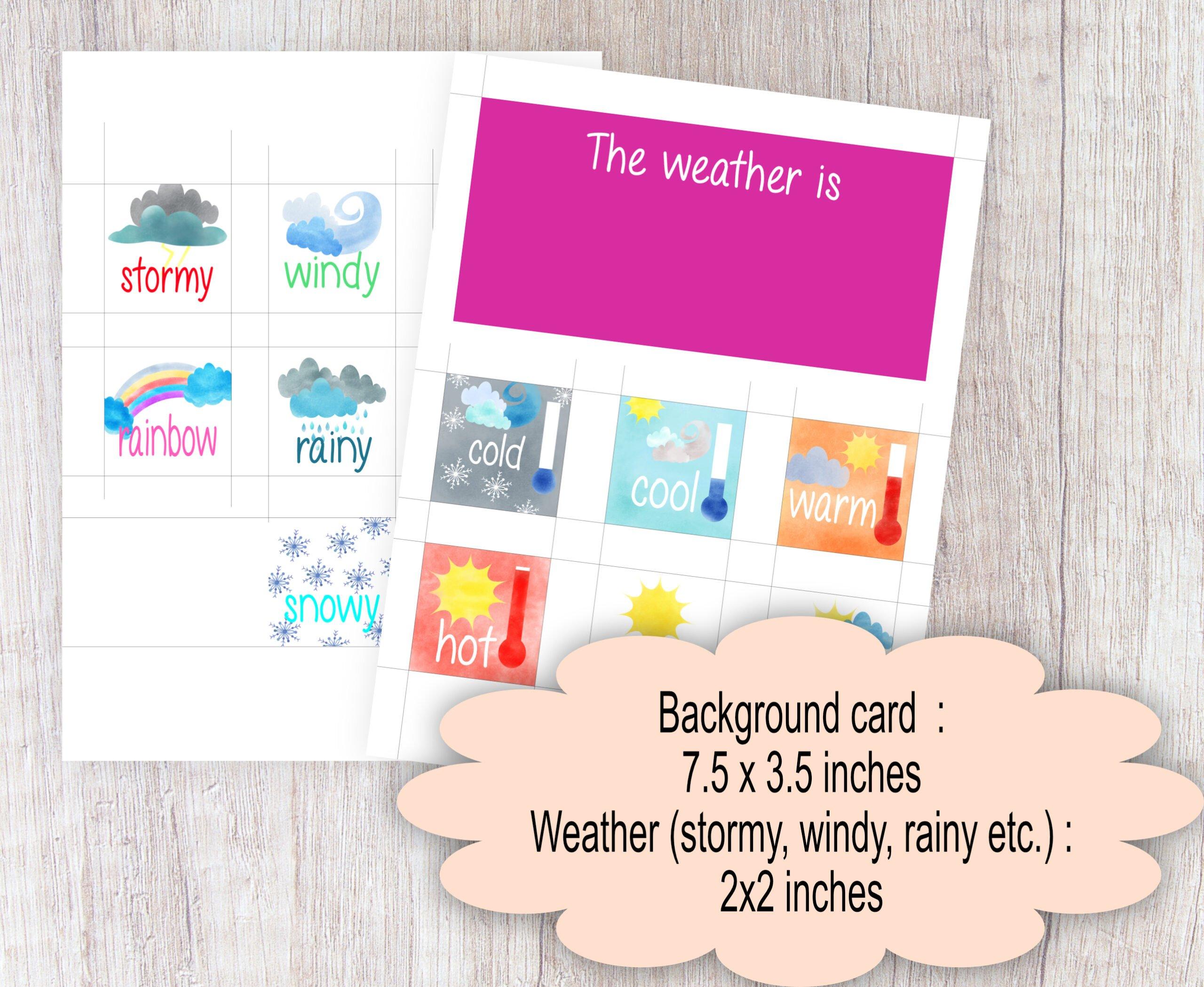 KIDS | SCHOOL GAMES Kids Morning Board Activity Game Home school Weather Chart Calendar