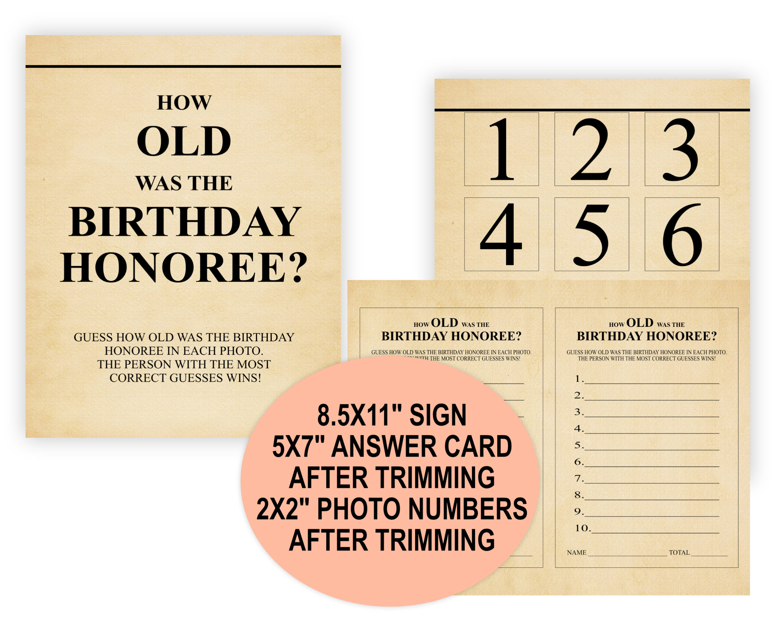 BIRTHDAY GAMES 12-1 BORN IN 1961 BUNDLE PACK 1961 Theme Birthday