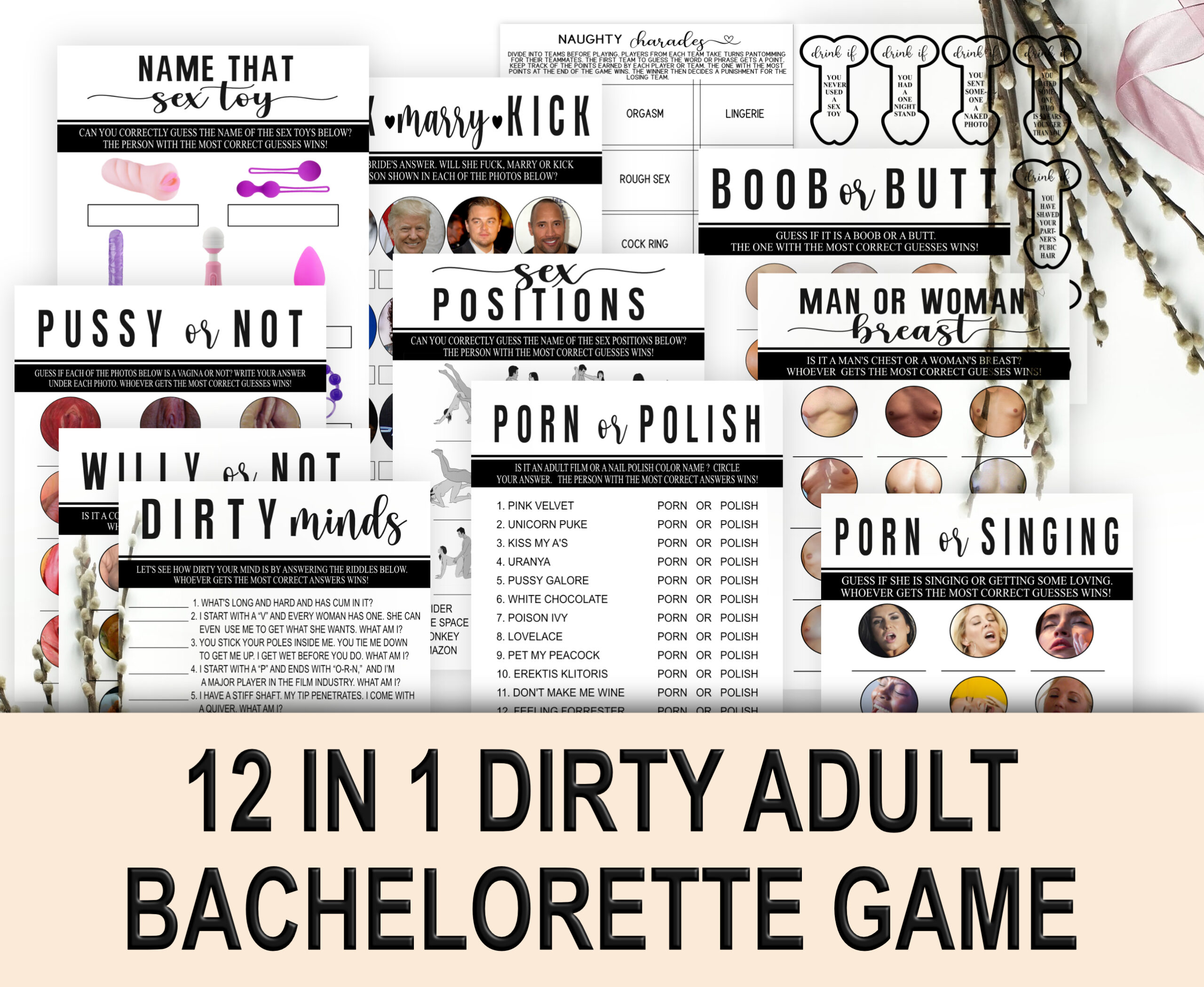 BACHELORETTE GAMES 12-1 DIRTY ADULT BACHELORETTE GAME Dirty Adult
