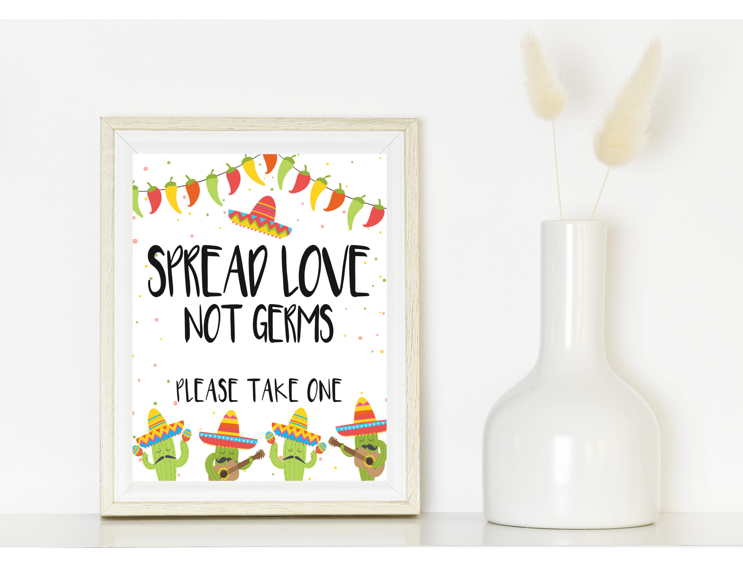 BRIDAL SHOWER DECOR | SIGN SPREAD LOVE NOT GERMS SIGN Baby Shower
